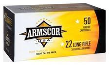 Armscor 22 LR Ammunition ARM22LRHP 36 Grain Plated Hollow Point Brick of 500 Rounds