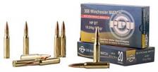 Prvi PPU Match 308 Win/7.62 NATO Match Ammunition PPM3082 168 Grain Hollow Point Boat Tail 20 Rounds