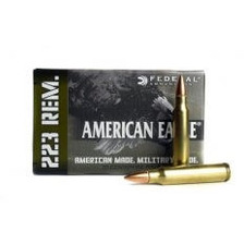 Federal 223 Rem American Eagle AE223MCASE 55 Grain Full Metal Jacket 500 rounds