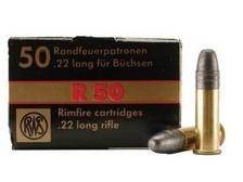 RWS 22LR Ammunition R50 RWS2134187 40 Grain Lead Round Nose 50 rounds