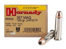 Hornady 357 Magnum Custom H90502 125 gr XTP 25 rounds