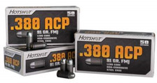 Century 380 Auto Ammunition HotShot AM2040 91 Grain Full Metal Jacket Steel Case 1,000 rounds