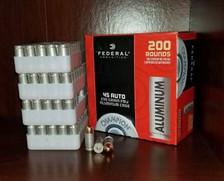 Federal Champion 45 Auto Aluminum CAL45230200 230 Grain Full Metal Jacket 1000 rounds