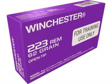 Winchester 223 Remington Ammunition Q3340 62 Grain Open Tip Purple Tinted Brass 20 Rounds