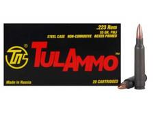 Tula 223 Remington Ammunition 55 Grain Full Metal Jacket 20 rounds