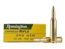 Remington 243 Win R243W1 80 gr PSP 20 rounds