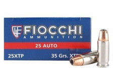 Fiocchi 25 Auto Ammunition FI25XTP Extrema 35 Grain XTP Jacketed Hollow Point 50 rounds