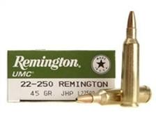 Remington 22-250 L22503 45 gr JHP 200 rounds