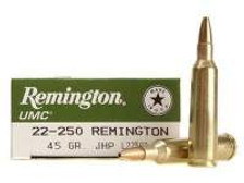 Remington 22-250 L22503 45 gr JHP 20 rounds
