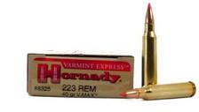 Hornady 223 Rem Varmint Express #8325 40 gr V-MAX 20 rounds
