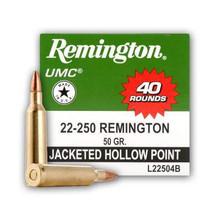 Remington 22-250 L22504B 50 gr JHP 40 rounds
