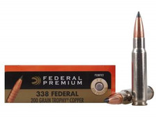 Federal 338 Federal Ammunition Vital-Shok P338FTC2 200 Grain Copper Tipped Boat Tail 20 rounds