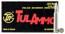 Tula 223 Rem Ammunition 62 Grain Full Metal Jacket Case of 1000 Rounds