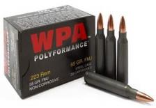 Wolf 223 Rem WPA Polyformance 55 gr HP Steel CASE 500 rounds