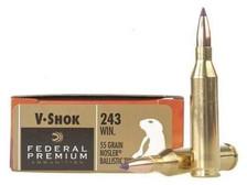 Federal Premium 243 Win P243H 55 gr Nosler Ballistic Tip 20 rounds