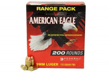Federal 9mm American Eagle AE9DP200 115 gr FMJ 200 rounds