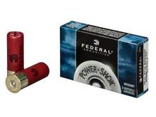 """Federal 12 Gauge Ammunition Power-Shok F127000 2-3/4"""" 8 Pellet 000 Buck 1325fps 5 rounds"""