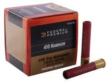 "Federal 410 Bore Ammunition PD413JGE000 3"" 5 Pellet 000 Buckshot 775fps 20 rounds"
