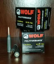 Wolf 5.45x39mm Ammunition 60 Grain Full Metal Jacket CASE 750 rounds