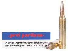 Prvi PPU 7mm Rem Mag Ammunition PP772 174 Grain Pointed Soft Point 20 Rounds