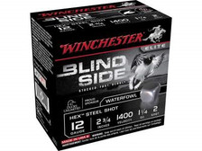 "Winchester 12 GA Blind Side SBS122 Ammunition 2-3/4"" 1-1/4 oz #2 1400fps Non-Toxic Steel Shot 250 rounds"