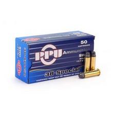 Prvi PPU 38 Special Ammunition PPR332 158 Grain Semi-Wadcutter 50 Rounds