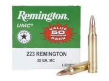 Remington 223 Rem Value Pack L223R3V 55 gr FMJ 50 rounds
