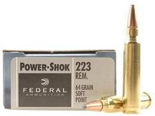 Federal 223 Rem Ammunition F223L Power-Shok 64 Grain Soft Point 20 rounds