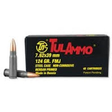 Tula 7.62x39mm 124 gr FMJ 40 rounds