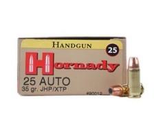 Hornady 25 Auto Custom H90012 35 Grain XTP Hollow Point 25 rounds