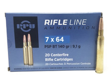 Prvi PPU 7x64mm Ammunition PP764 140 Grain Pointed Soft Point Boat Tail 20 Rounds