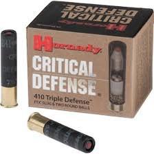 Hornady 410 Bore Critical Defense H86238 41 Cal. FTX Slug 2 1/2'' 750fps 20 rounds