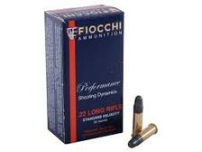 Fiocchi 22LR Standard Velocity Ammunition FI22FLRN 40 Grain Lead Round Nose 500 rounds