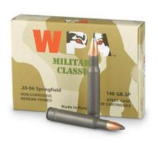 Wolf 30-06 Ammunition 140 Grain Soft Point Steel Case 20 rounds