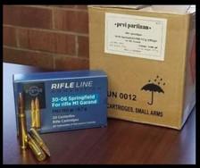Prvi PPU 30-06 Springfield Ammunition M1 Garand PP3006GCASE 150 Grain Full Metal Jacket 200 Rounds