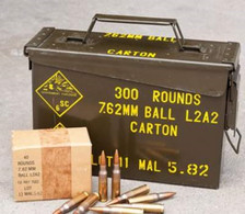Malaysian 7.62x51mm NATO Ammunition Surplus 146 Grain Full Metal Jacket in Ammo Can 900 rounds