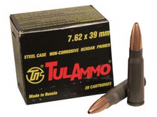 Tula 7.62x39mm 122 gr HP 40 rounds