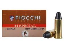 Fiocchi 44 Special Cowboy Action Ammunition FI44SCA 210 Grain Lead Round Nose Flat Point 50 rounds