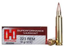 Hornady 223 Rem Ammunition Superformance H83266 35 Grain NTX 20 rounds