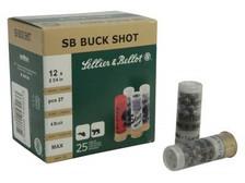 "Sellier & Bellot 12 Gauge Ammunition SB12BSD 2-3/4"" 4 Buckshot 27 Pellets 1185 fps 10 Rounds"