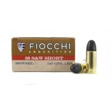 Fiocchi 38 S&W Short Ammunition Cowboy Action FI38SWSHL 145 Grain Lead Round Nose 50 rounds