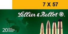 Sellier & Bellot 7X57mm Mauser Ammunition SB757A 140 Grain Full Metal Jacket 20 Rounds