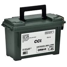CCI 22LR Stinger Hyper Velocity CCI0976 32gr CPHP with Ammo Can 900 rounds