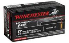 Winchester 17 WSM S17W25 Varmint HE 25 gr Polymer Tip CASE 500 rounds