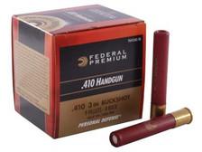 "Federal 410 Bore Ammunition PD413JGE 3"" 9 Pellet #4 Buckshot 950fps 20 rounds"