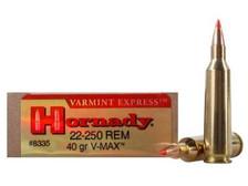 Hornady 22-250 Varmint Express H8335 40 gr V-MAX 20 rounds