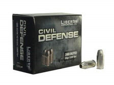 Liberty Ammo 380 Auto Ammunition Civil Defense LACD380023 50 gr HP Fragmenting 20 rounds