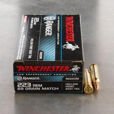 Winchester 223 Rem Ranger RA223M Match 69 gr BTHP 20 rounds