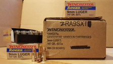 Winchester 9mm Ranger RA9SXT 147 gr SXT JHP 50 rounds