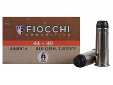 Fiocchi 44-40 Ammunition Cowboy Action FI4440CA 210 Grain Lead Round Nose Flat Point 50 rounds